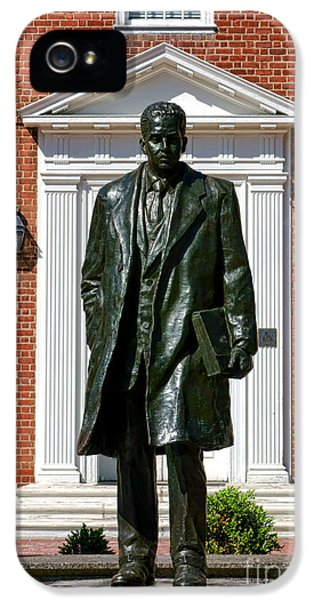 House Md iPhone 5 Cases - Thurgood Marshall Statue iPhone 5 Case by Olivier Le Queinec