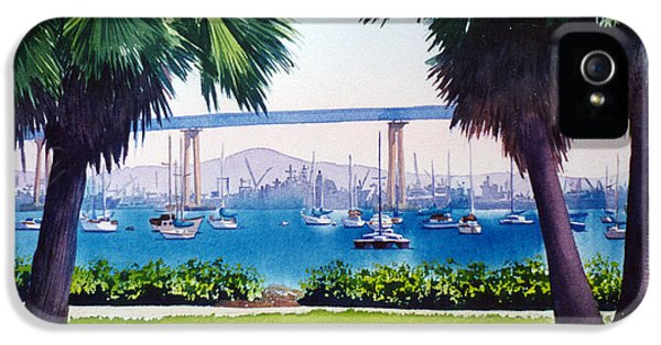 Land iPhone 5 Cases - Tide Lands Park Coronado iPhone 5 Case by Mary Helmreich