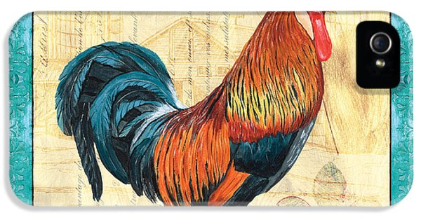 Livestock iPhone 5 Cases - Tiffany Rooster 1 iPhone 5 Case by Debbie DeWitt