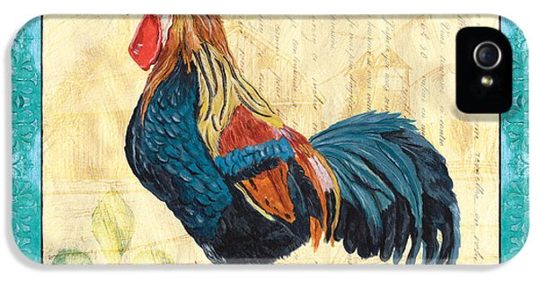 Livestock iPhone 5 Cases - Tiffany Rooster 2 iPhone 5 Case by Debbie DeWitt