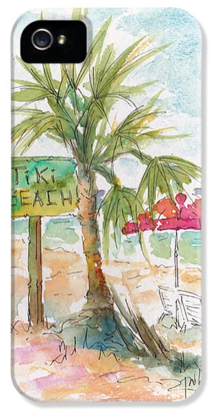 Raw Sienna iPhone 5 Cases - Tiki Beach Grand Cayman iPhone 5 Case by Pat Katz