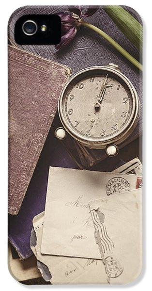 Clock iPhone 5 Cases - Time and Treasures iPhone 5 Case by Amy Weiss