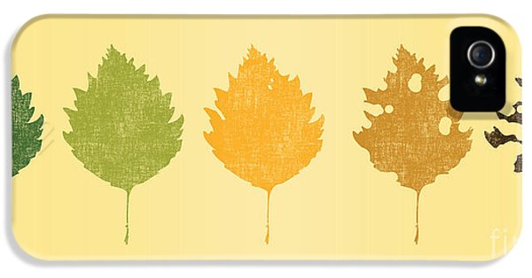 Leaf iPhone 5 Cases - Time passes iPhone 5 Case by Budi Kwan