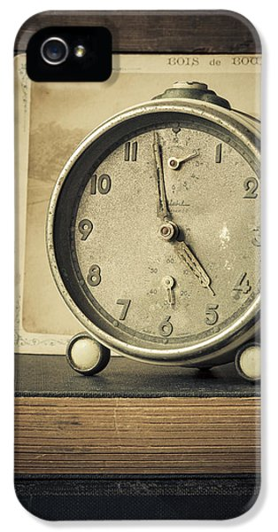 Clock iPhone 5 Cases - Time Stood Still iPhone 5 Case by Amy Weiss