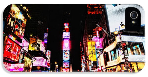 Times Square iPhone 5 Cases - Times Square iPhone 5 Case by Andrew Paranavitana