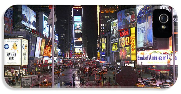 Times Square iPhone 5 Cases - Times Square iPhone 5 Case by Mike McGlothlen