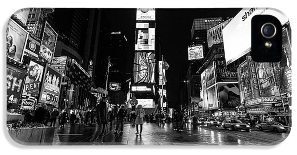 Times Square iPhone 5 Cases - Times Square mono iPhone 5 Case by John Farnan