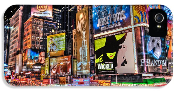Theater iPhone 5 Cases - Times Square iPhone 5 Case by Randy Aveille