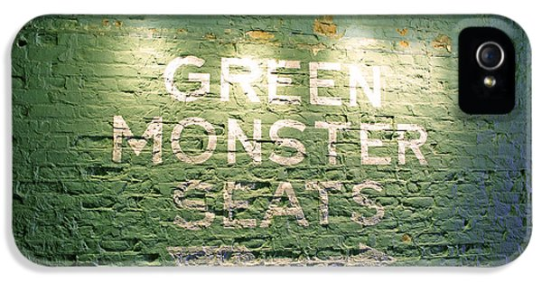 Monster iPhone 5 Cases - To the Green Monster Seats iPhone 5 Case by Barbara McDevitt
