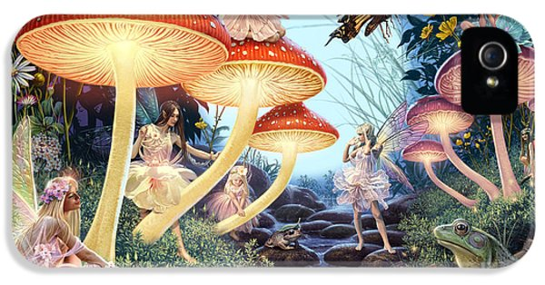 Fairies iPhone 5 Cases - Toadstool Brook iPhone 5 Case by Steve Read