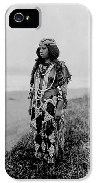 Native American Woman iPhone 5 Cases - Tolowa Indian woman circa 1923 iPhone 5 Case by Aged Pixel