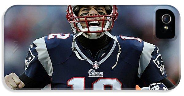Tom Brady IPhone 5 / 5s Case by Marvin Blaine