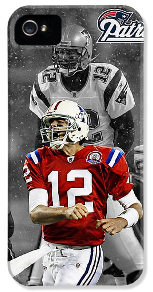 Padded iPhone 5 Cases - Tom Brady Patriots iPhone 5 Case by Joe Hamilton