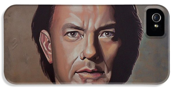 Forrest iPhone 5 Cases - Tom Hanks iPhone 5 Case by Paul Meijering