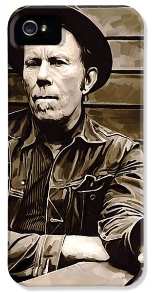 Wait iPhone 5 Cases - Tom Waits Artwork 2 iPhone 5 Case by Sheraz A