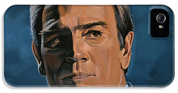 Men In Black iPhone 5 Cases - Tommy Lee Jones iPhone 5 Case by Paul  Meijering