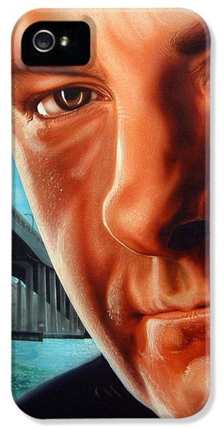 Tony Soprano iPhone 5 Cases - Tony Boss of Bosses iPhone 5 Case by Dan Menta