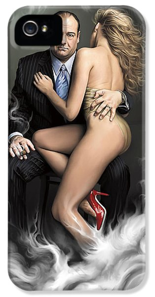 Tony Soprano iPhone 5 Cases - Tony iPhone 5 Case by Mark Gallegos