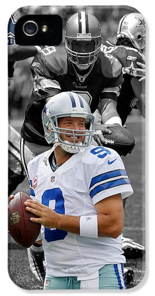 Padded iPhone 5 Cases - Tony Romo Cowboys iPhone 5 Case by Joe Hamilton