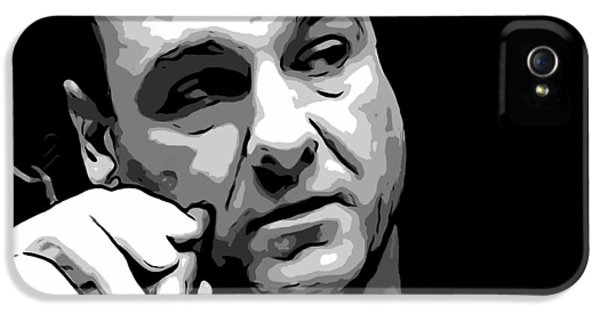 Tony Soprano iPhone 5 Cases - Tony Soprano iPhone 5 Case by Dan Sproul