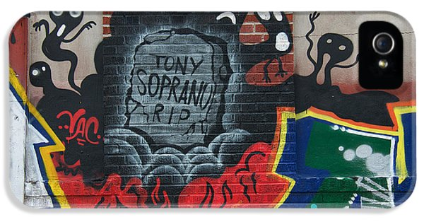 Tony Soprano iPhone 5 Cases - Tony Soprano iPhone 5 Case by David Resnikoff