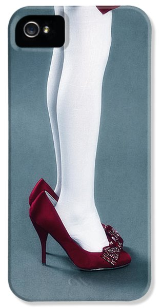 Stockings iPhone 5 Cases - Too Big Shoes iPhone 5 Case by Joana Kruse