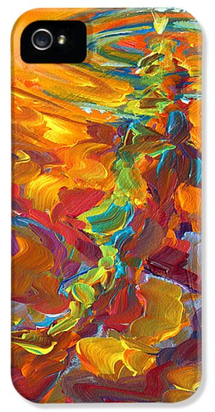 Topwater Trout Abstract Tour Study IPhone 5 / 5s Case by Savlen Art