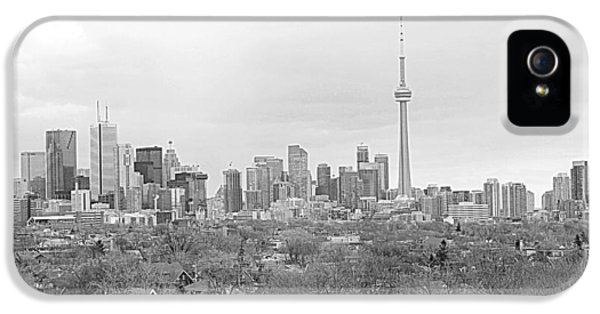 Harborfront iPhone 5 Cases - Toronto in Black and White iPhone 5 Case by Valentino Visentini