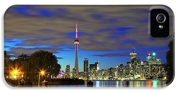 Toronto In Blue Light IPhone 5 / 5s Case by Charline Xia