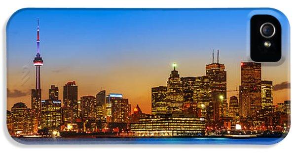 Light iPhone 5 Cases - Toronto Skyline Panorama iPhone 5 Case by Sebastian Musial