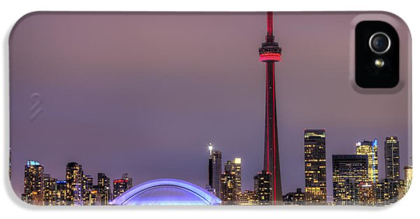 Toronto iPhone 5 Cases - Toronto Skyline iPhone 5 Case by Shawn Everhart