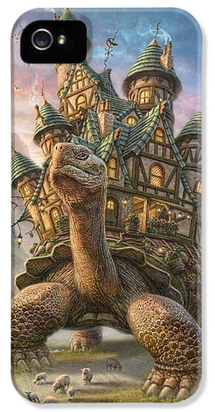 Outdoors iPhone 5 Cases - Tortoise House iPhone 5 Case by Phil Jaeger