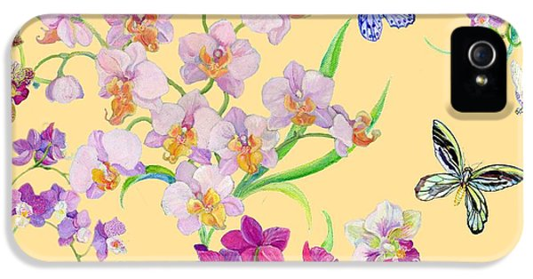 Tossed Orchids IPhone 5 / 5s Case by Kimberly McSparran