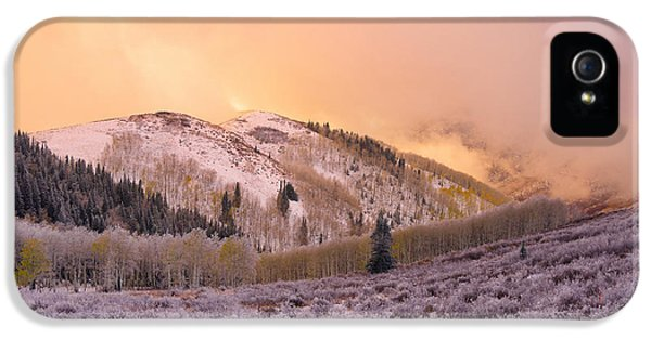 Storm Clouds iPhone 5 Cases - Touch of Winter iPhone 5 Case by Chad Dutson