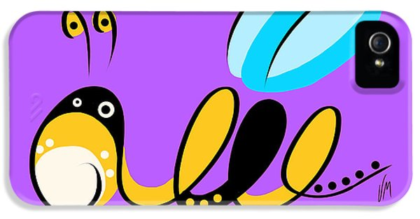 Bee iPhone 5 Cases - Thoughts and colors series bee iPhone 5 Case by Veronica Minozzi