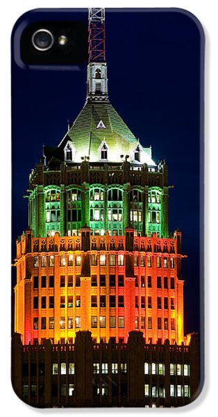 The Americas iPhone 5 Cases - Tower Lit Up At Night, Tower Of The iPhone 5 Case by Panoramic Images