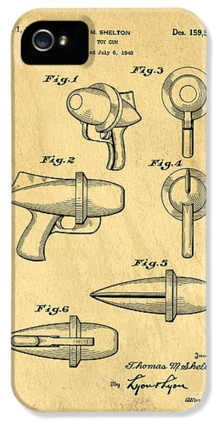 Guns iPhone 5 Cases - Toy Ray Gun Patent iPhone 5 Case by Edward Fielding