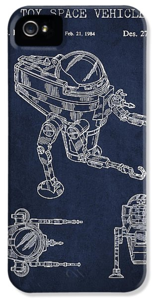 Robot iPhone 5 Cases - Toy Space Vehicle Patent iPhone 5 Case by Aged Pixel