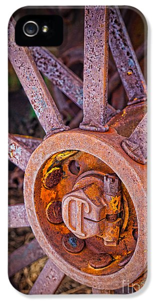 Agricultural iPhone 5 Cases - Tractor Spokes iPhone 5 Case by Inge Johnsson