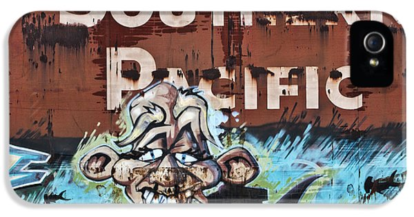Graffiti iPhone 5 Cases - Train Art Swimming With Sharks iPhone 5 Case by Carol Leigh