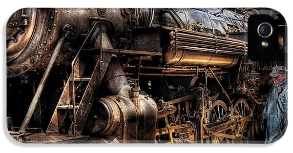 Engineer iPhone 5 Cases - Train - Engine -  Now boarding iPhone 5 Case by Mike Savad