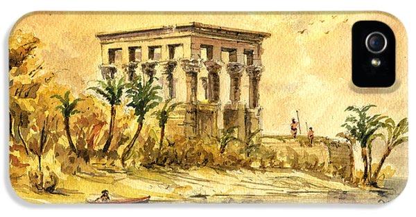 Ruins iPhone 5 Cases - Trajan kiosk temple aswan egypt iPhone 5 Case by Juan  Bosco