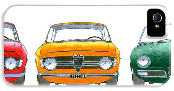 Alfa Romeo Gtv iPhone 5 Cases -  Alfa Romeo Giulia GTA and Duetto iPhone 5 Case by Domingo Gorriz