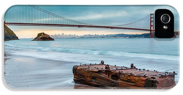 Afternoon iPhone 5 Cases - Treasure and the Golden Gate Bridge iPhone 5 Case by Sarit Sotangkur