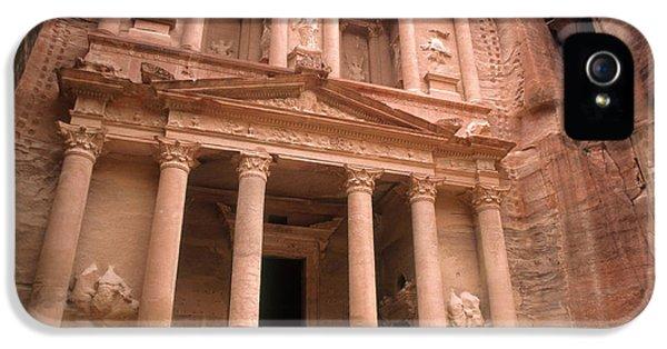 Al-khazneh iPhone 5 Cases - Treasury, Petra, Jordan iPhone 5 Case by Catherine Ursillo