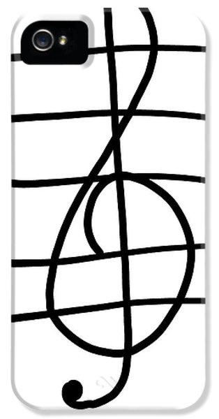 Treble Clef IPhone 5 / 5s Case by Jada Johnson