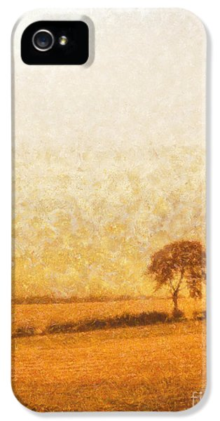 Tree iPhone 5 Cases - Tree on hill at dusk iPhone 5 Case by Pixel  Chimp