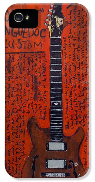 Trey Anastasio Languedoc Guitar IPhone 5 / 5s Case by Karl Haglund