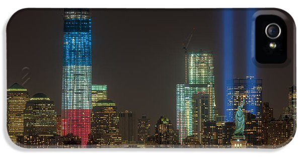 National Monuments iPhone 5 Cases - Tribute in Light XIII iPhone 5 Case by Clarence Holmes