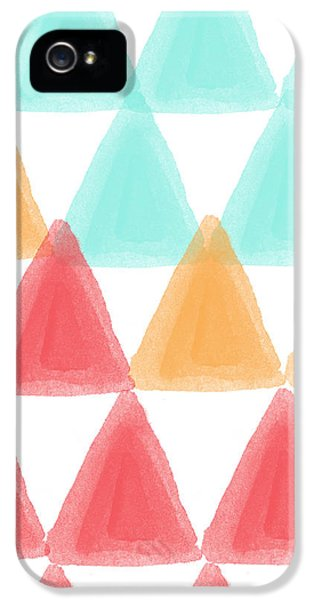 Trifold- Colorful Abstract Pattern Painting IPhone 5 / 5s Case by Linda Woods